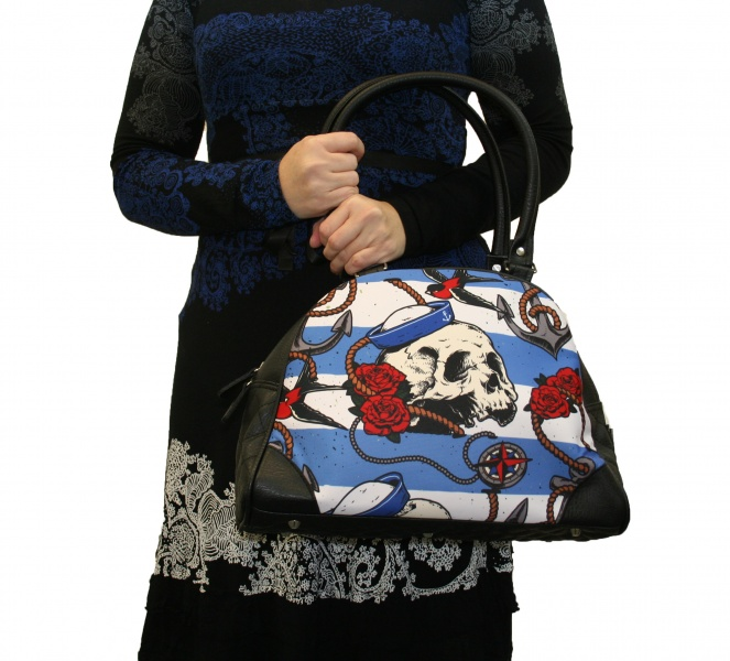 Bilde av LIQUOR BRAND, Nautical skull /Bowling Bag
